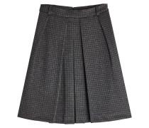 Minirock aus Tweed mit Hahnentrittmuster