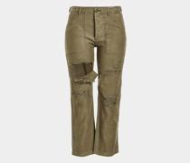 Destroyed Cargo Pants aus Baumwolle