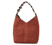 Bucket Bag Small aus Veloursleder und Leder