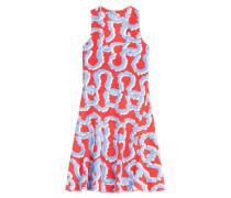 Strick-Kleid mit Print