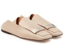 Loafers aus Lammleder mit Zierschnalle
