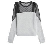Sweatshirt aus Baumwolle mit Tüll