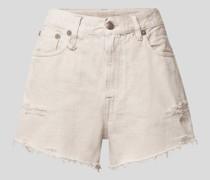 Jeansshorts mit Brand-Detail