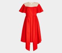 Flared-Dress aus Baumwolle