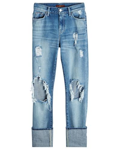 Straight Leg Jeans im Distressed Look