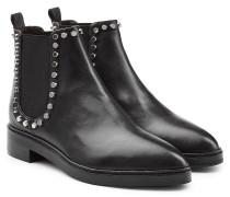 Chelsea Boots aus Leder mit Nieten-Paspel