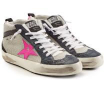 Sneakers Mid Star aus Mesh und Veloursleder