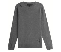 Distressed-Pullover mit Wolle
