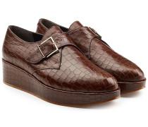 Plateau-Loafers aus geprägtem Leder