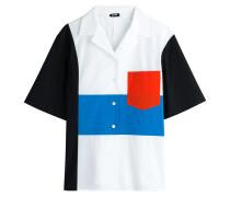 Color-Block-Bluse Echo aus Baumwoll-Stretch