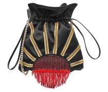 Bucket Bag aus Samt mit Décor