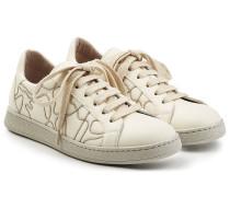 Sneakers mit Schmuckperlen-Stickerei