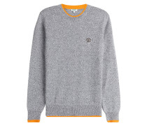 Wollpullover mit Logo-Patch