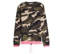 Camouflage-Pullover aus Schurwolle