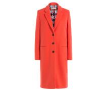 Mantel mit bedrucktem Futter