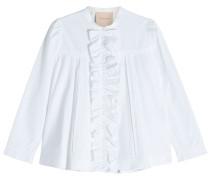 Bluse aus Baumwolle mit Rüschen und Volants