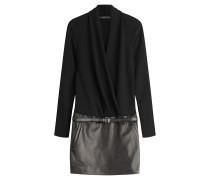 Mini-Dress mit Lederrock - Stylebop Exclusive -