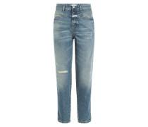 High-Waist Cropped-Jeans aus Baumwolle