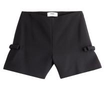 Shorts aus Wolle und Seide mit Schleifen
