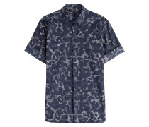 Kurzarmhemd aus Baumwoll-Stretch mit Print