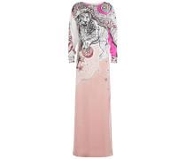 Abendkleid aus Seide mit Print