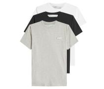 3er-Pack T-Shirts aus Baumwolle