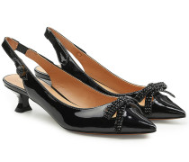 Verzierte Slingback Pumps Abbey aus Lackleder