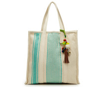 Gestreifter Canvas-Shopper Robyn