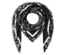Gefranster Print-Schal mit Baumwolle