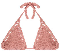 Triangel-Bikini-Top aus Häkelstrick