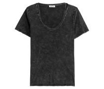 T-Shirt aus verwaschener Baumwolle