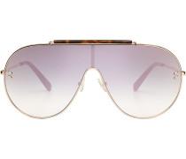 Oversized Sonnenbrille mit Metall