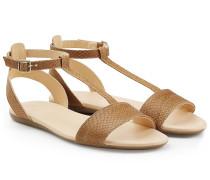 Sandalen aus geprägtem Leder
