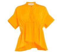 Drapierte Bluse aus Seide