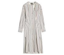 Gestreiftes Kleid aus Baumwolle
