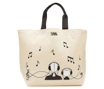 Bedruckter Baumwoll-Shopper K/Music