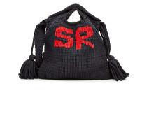 Gestrickte Handtasche mit Baumwolle