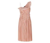 Blush One Shoulder Pleated Dress