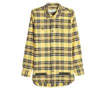 Kariertes Used-Hemd aus Baumwolle