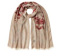 Schal mit Baumwolle und Muster