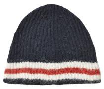 Gestreifte Mütze mit Alpakawolle