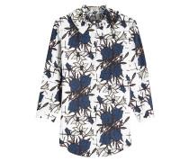 Bedruckte Bluse aus Baumwolle mit Rüschen