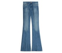 Flared-Jeans aus Baumwoll-Stretch