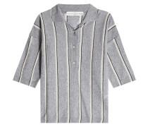 Gestreiftes Poloshirt aus Frottee