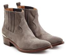 Cowboy-Boots aus Veloursleder