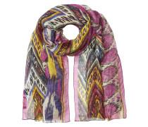 Gemusterter Schal aus Leinen und Seide