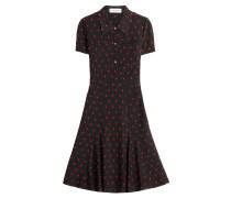 Print-Kleid aus Seidenkrepp