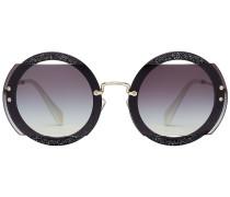 Runde Sonnenbrille mit Glitter Finish