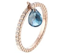 Ring Blue Topaz aus 18kt Roségold mit Diamanten und Topas