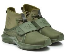 Sneakers mit Leder und Textil